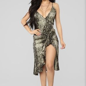 Fashion Nova For the Rest of Our Days snake dress